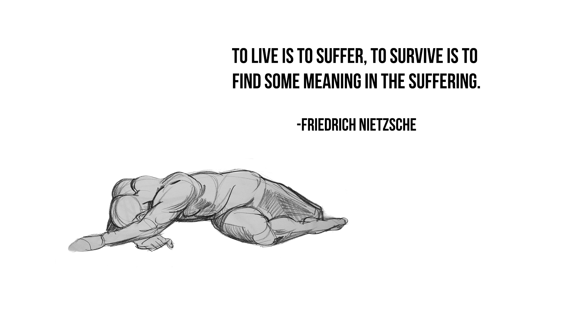 To Live Is To Suffer Nietzsche 1920x1080 Quotesporn