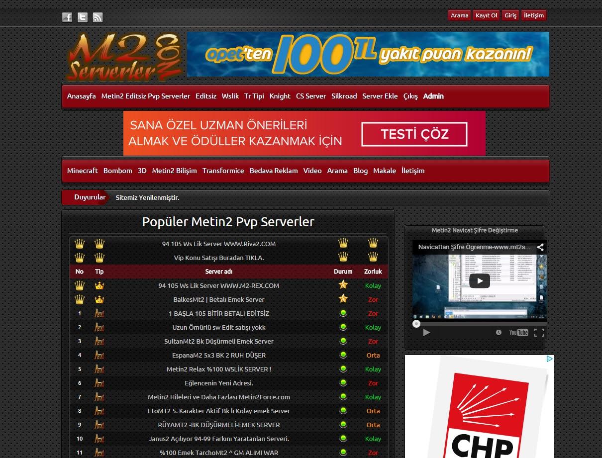 Metin2 Pvp Serverler Editsiz Serverler