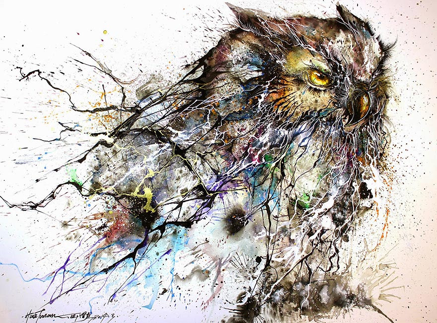 Image result for owl painting
