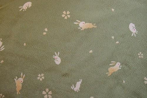 Green bunny fabric