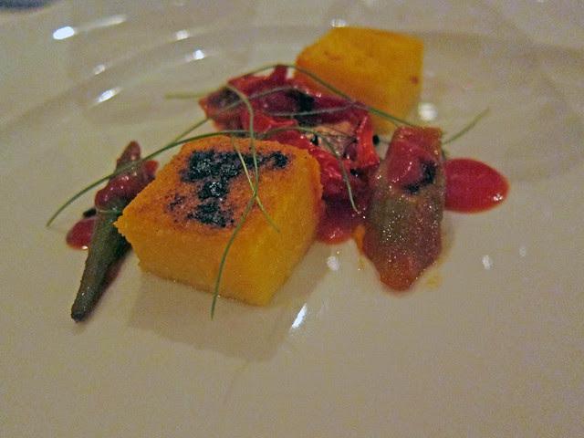 polenta with okra