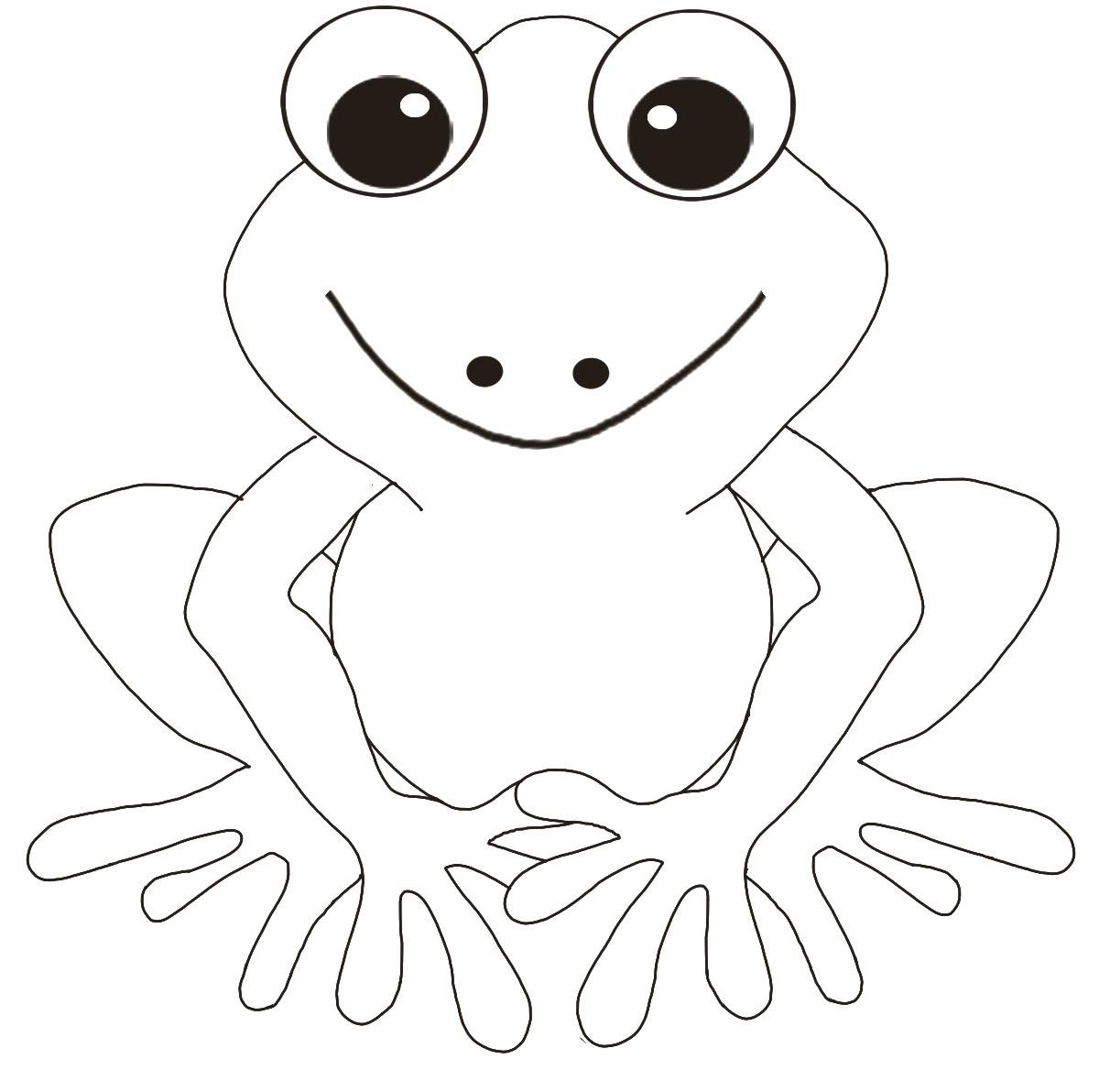 gratuit  imprimer grenouille dessins  colorier pour enfants