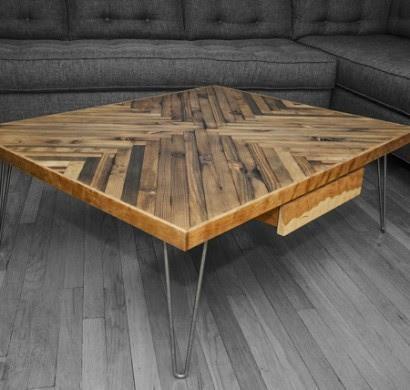 Wohnzimmertisch aus Holz selber bauen - tolle DIY Ideen ...