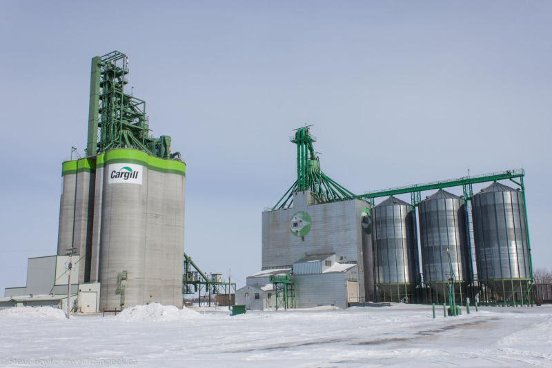 Cargill grain elevators in Morris Manitoba