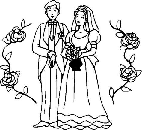 Coloring coloring of ceremony of marriage picture