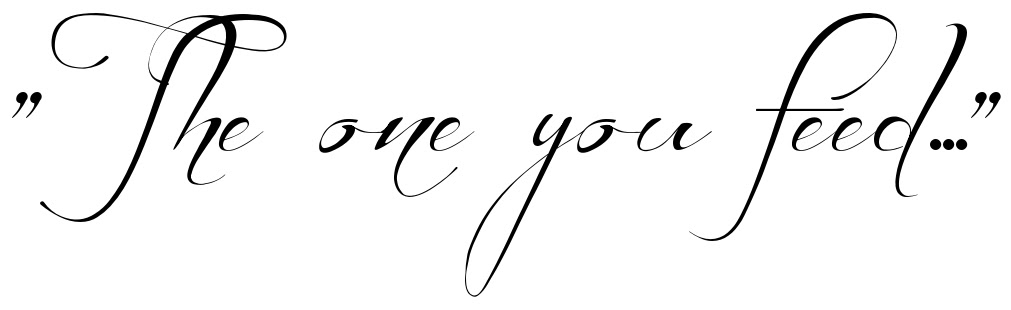 The One You Feed Tattoo Quote Download Free Scetch