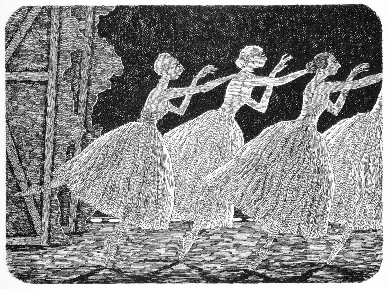 Una de las escenas de ballet de Gorey