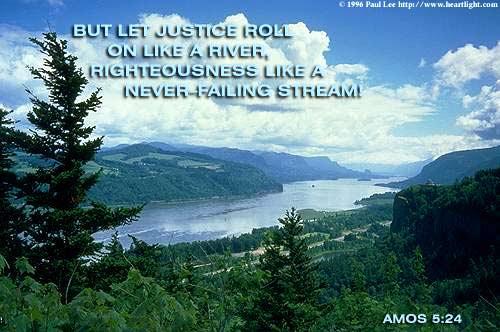 Inspirational illustration of Amos 5:24