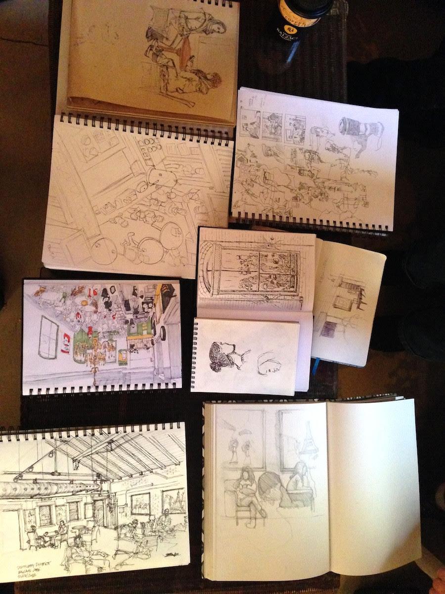 Toronto Urban Sketchers   Coffee Balzac at the Distillery District