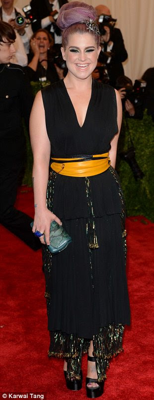 Black magic: Also keeping it classic in black were Kelly Osbourne who wore Marc Jacobs, Dree Hemingway who wore Stella McCartney and Carolyn Murphy
