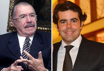 Senador Sarney e Adriano Sarney