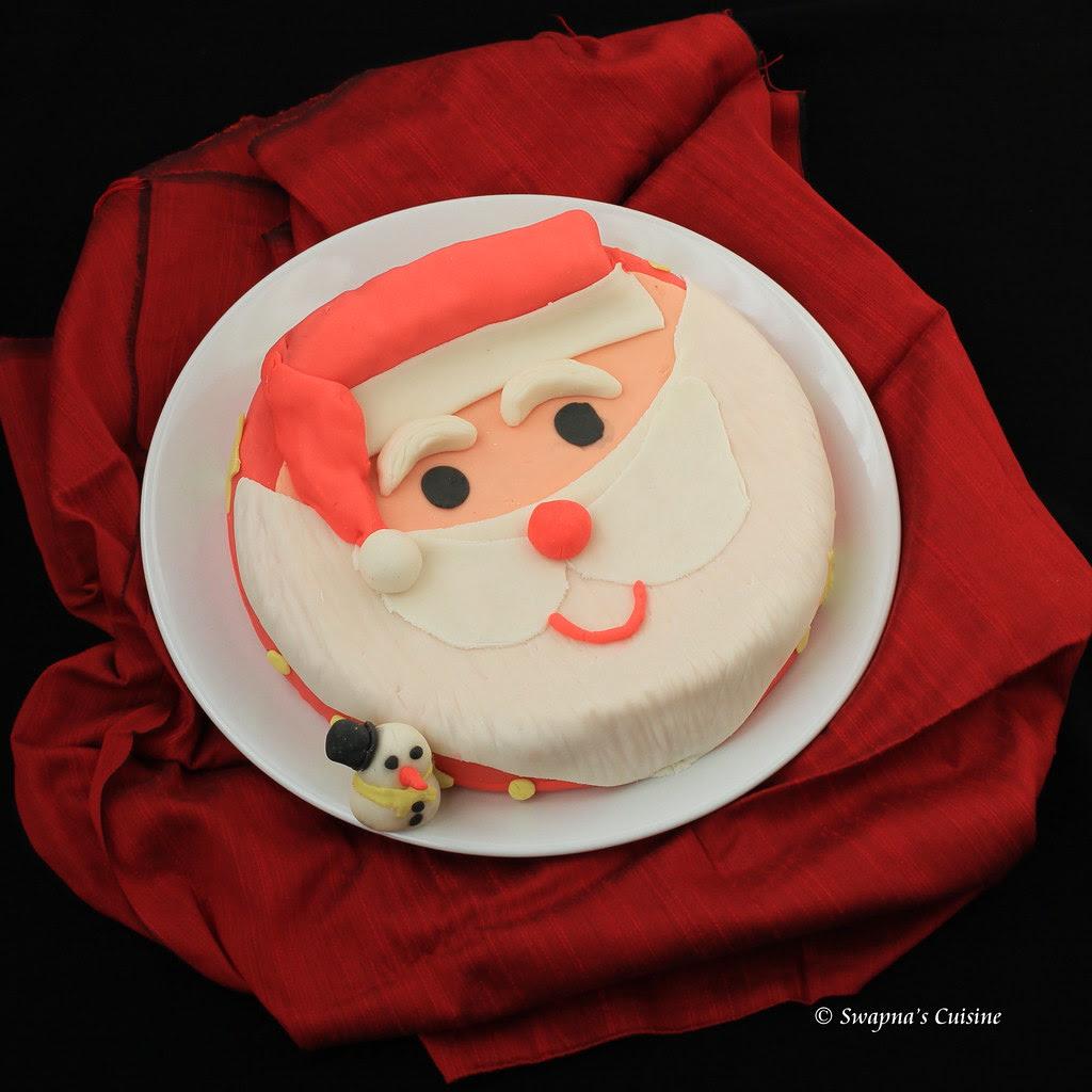 Santa Clause Fondant Cake