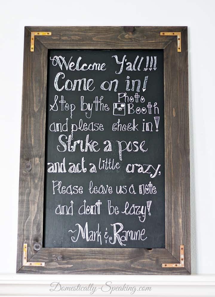 order was chalkboard in a rustic rustic  rustic cute was so chalkboard signs