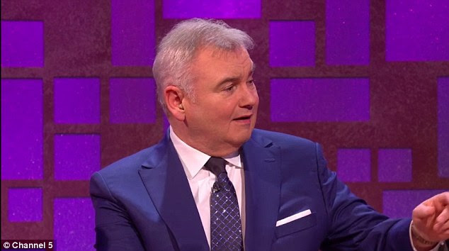 Her husband Eamonn Holmes, 58, looked shocked as he watched the clip on the show
