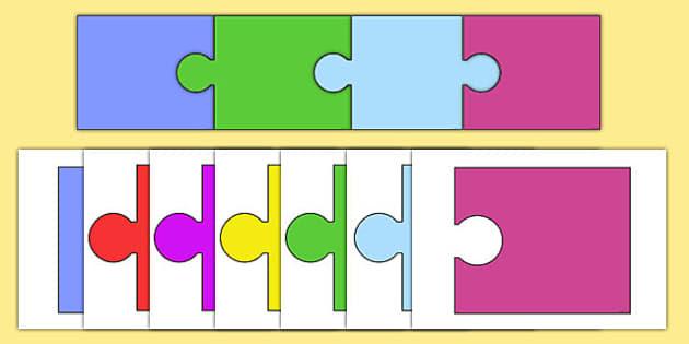 Editable Jigsaw Pieces - editable, jigsaw pieces, activity