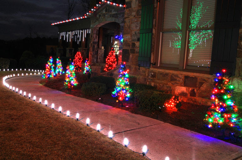 eclectic outdoor lighting jpg outdoor lighting - Christmas Light Garden Stakes Christmas Ideas