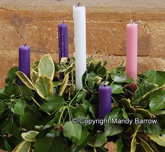 The Advent Wreath And Advent Candles Christmas 2009