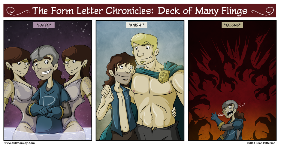 Form Letter Chronicles Deck Of Many Flings