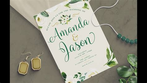 PHOTOSHOP TUTORIAL   How to Create a Wedding Invitation
