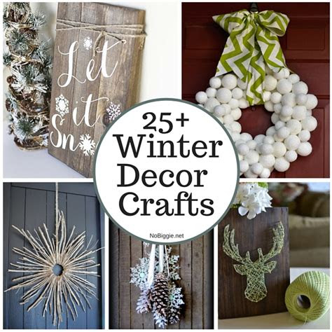 winter decor crafts  minute diy