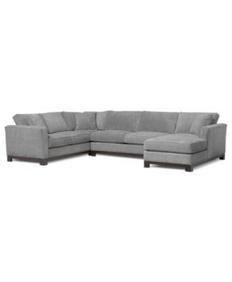 """Kenton Fabric Sectional Sofa, 3 Piece 138""""W x 94""""D x 33""""H"""