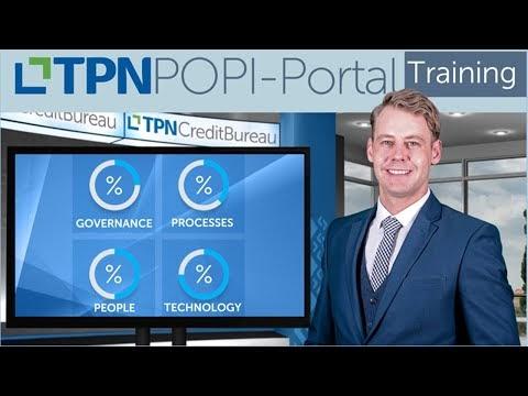 TPN POPI-Portal Training: Module 1 - Governance