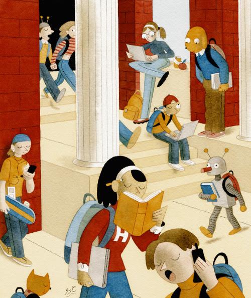Young readers / Jóvenes lectores (ilustración de Greg Clarke)