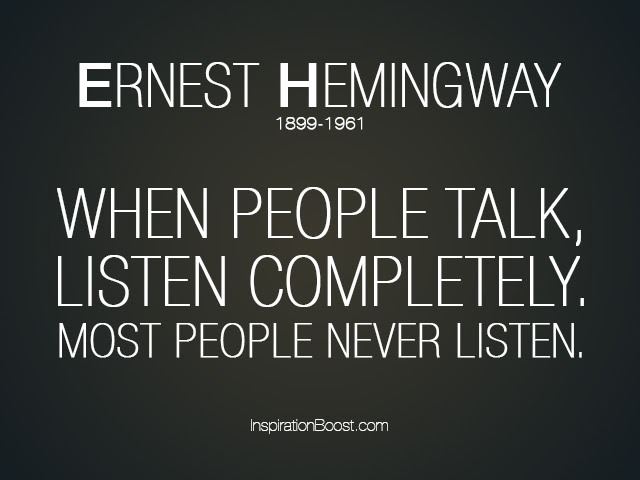 Quotes About Not Listening To People 75 Quotes