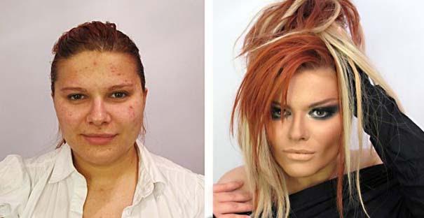 Γυναίκες με / χωρίς μακιγιάζ (18)