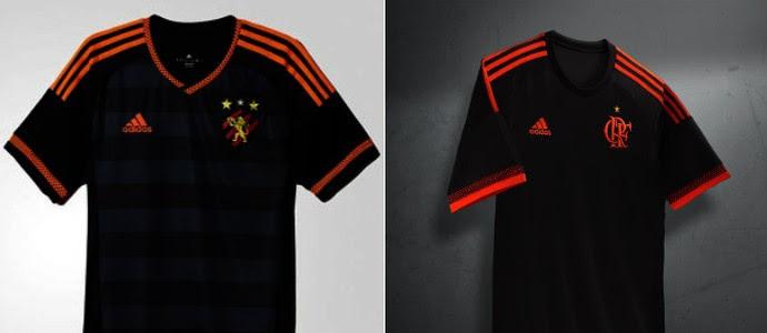 Terceira camisa Sport e Flamengo (Foto: Reprodução SporTV)
