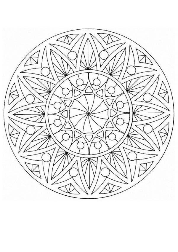 Dibujos Para Colorear Mandala Ojos De Dioses Es Hellokids Com