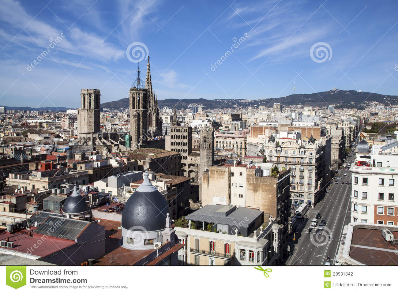 A Barcelona City Great View Stock Photography - Image ...