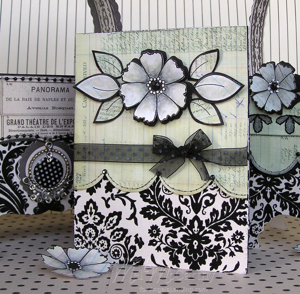 Pierced Backgrounds & Simply Flowers (card) melstampz