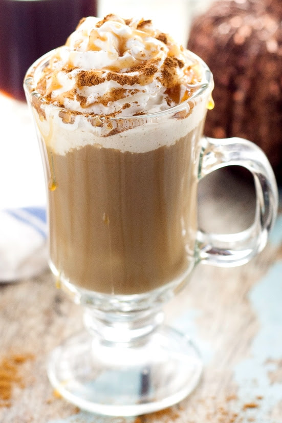 Homemade Pumpkin Caramel Coffee Creamer Recipe - Caramel adds an extra hint of sweet to the classic pumpkin spice Fall flavor.  Add this Homemade Pumpkin Caramel Coffee Creamer to your coffee for a perfect treat on a brisk Fall day. Because nothing is better than pumpkin coffee!