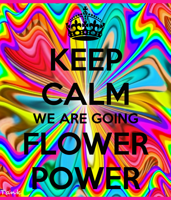 keep calm we are going flower power