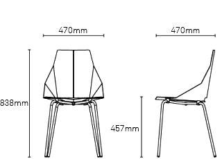 Copper Real Good Chair - Modern Seating - Blu Dot