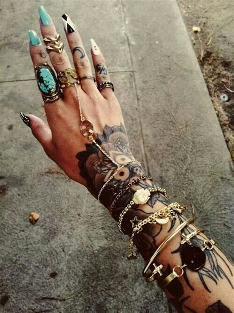 stiletto turquoise jewelry tattoos