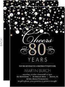 Blank 80th Birthday Invitations Calendar June