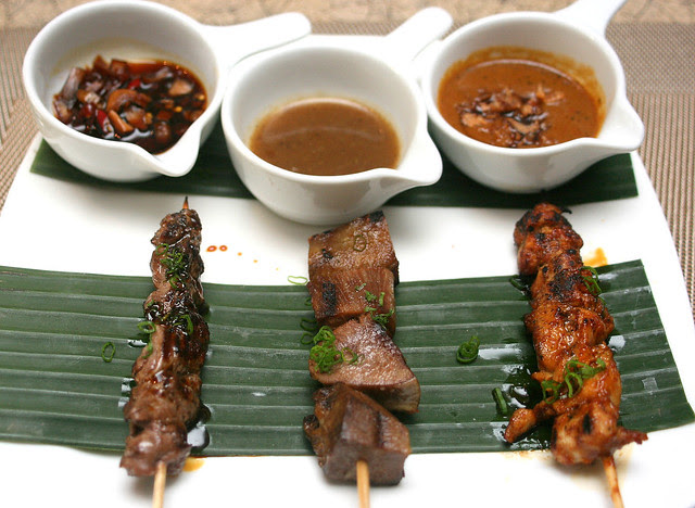 Sate! Beef, beef tongue and chicken - all with individual dips!