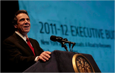 Gov. Andrew M. Cuomo suggested that school superintendent salaries were too high.