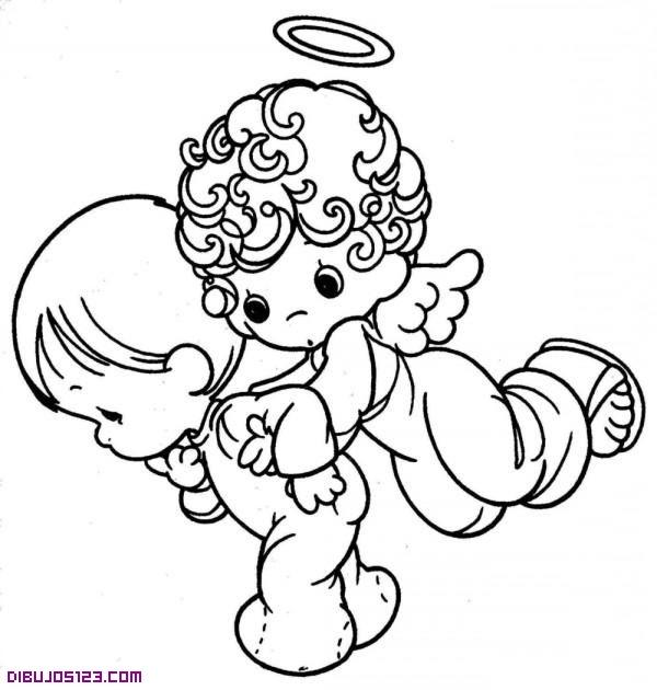 ángel Y Niño Para Colorear