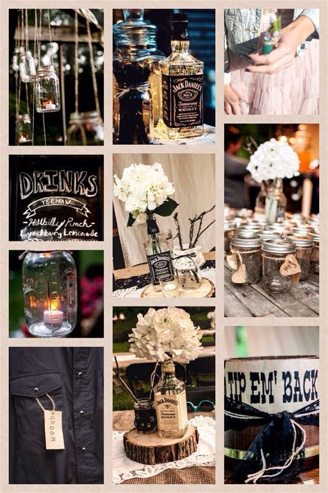 Rustic Jack Daniels themed wedding  MJD   Friday the 13th