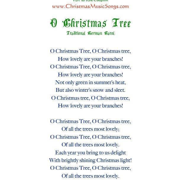 O Christmas Tree How Evergreen Your Branches Lyrics - LyricsWalls