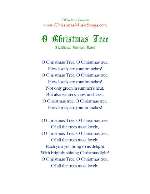 O Christmas Tree How Evergreen Your Branches Lyrics