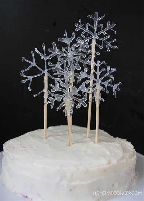 Make a Snowflake Cake Topper Using Hot Glue   DIY Candy