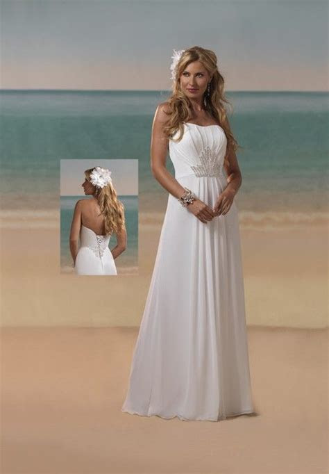 beach strapless wedding dress     Beach Bridal Gowns On