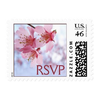 Cherry Blossom RSVP stamps zazzle_stamp