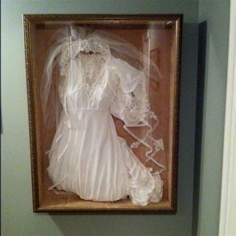 Wedding Dress Shadow Box   Re purpose Wedding Dress