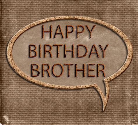 Happy Birthday Brother. Masculine Brown. Free For Brother