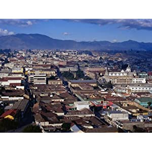 Cityscape of Guatemala's Second Largest City, Quetzaltenango, Guatemala Photographic Poster Print